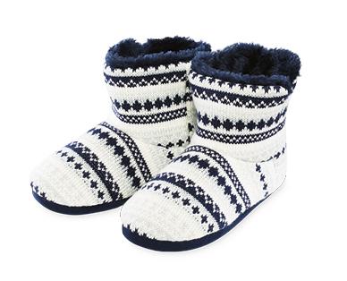 Children's Slipper Boots - Navy or Grey