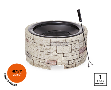 Stone-Look Fire Pit