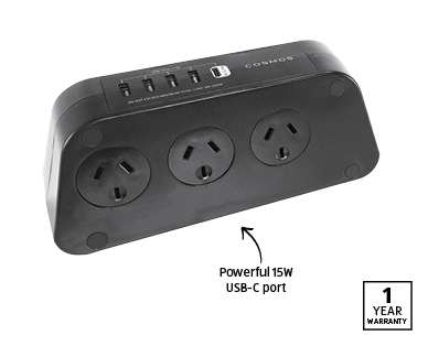6-way Powerboard with Surge Protection