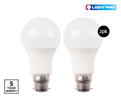 LED Globes B22 2pk Dimmable